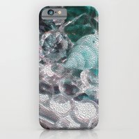 iPhone & iPod Case featuring Blue romance of the shiny ones by Pink grapes