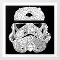 Gore Trooper Blk/Wht Art Print