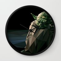 Geometric Yoda Wall Clock