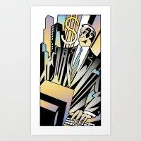 Business Computer Art Print