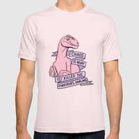 Chaos is what killed the dinosaurs, darling Mens Fitted Tee Light Pink SMALL