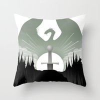 The Sword In The Stone Throw Pillow