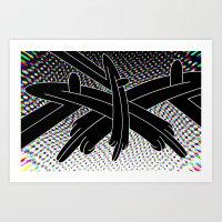 Stereo Split Art Print
