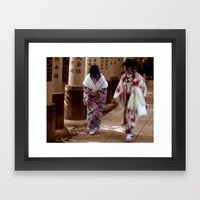 Geishas (Kyoto, Japan) Framed Art Print