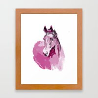 Pink horse Framed Art Print