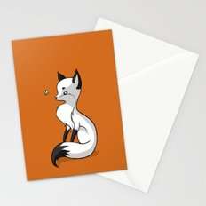 Fox and a Butterfly Stationery Cards