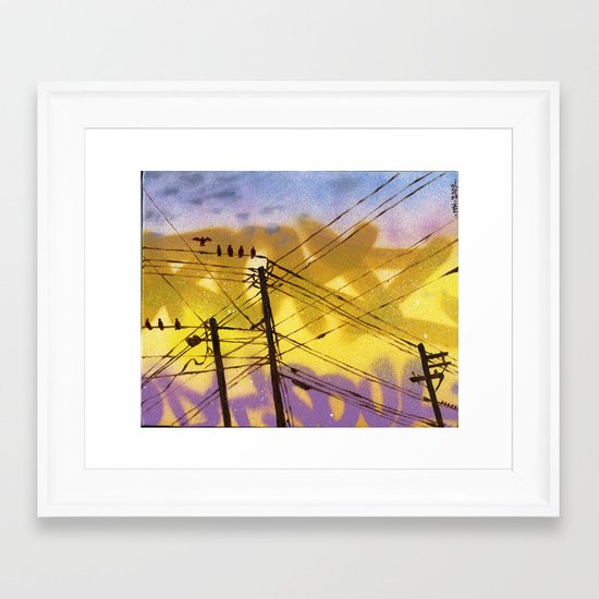 High Wire Act Framed Art Print