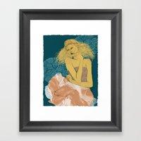 Sommer kommer Framed Art Print