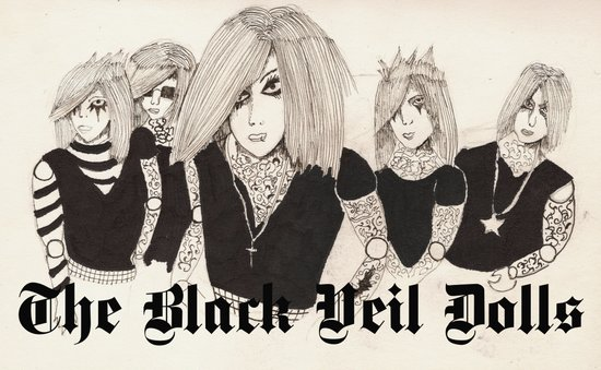 The Black Veil Dolls Art Print