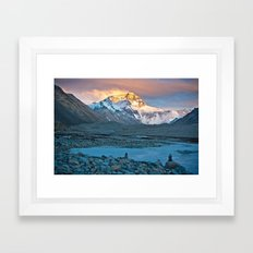 Sunset on Everest Framed Art Print
