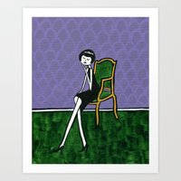 Ramona waits for her guests to arrive Art Print