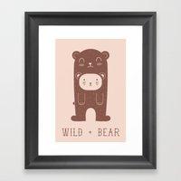 WILD + BEAR Print Framed Art Print