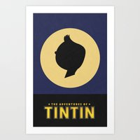 The Adventures of TinTin - Minimal Poster Art Print
