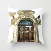 Italian door Throw Pillow