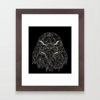 Lined Eagle Framed Art Print
