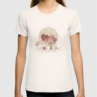 End Of The Day Womens Fitted Tee Natural SMALL