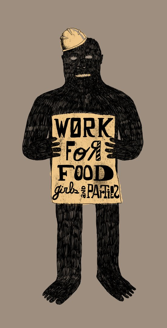 Work For (B) Art Print