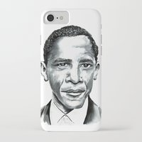 obama iPhone & iPod Cases featuring Obama by Bridget Davidson