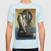 07825 Mens Fitted Tee Light Blue SMALL