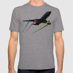 Ink Jet Mens Fitted Tee Athletic Grey SMALL