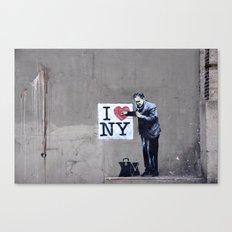 Banksy Doctor checking on I Heart NY Canvas Print