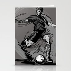 Playing Football Stationery Cards
