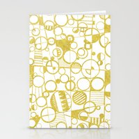 Golden Doodle circles Stationery Cards
