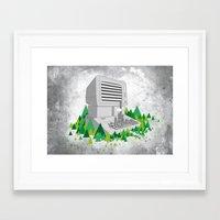 Keyboard City Framed Art Print