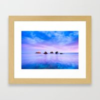 rocks and sea Framed Art Print