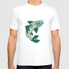 scalation White Mens Fitted Tee SMALL