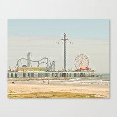 Pleasure Pier Galveston Fun Canvas Print
