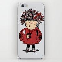 Native American Skater Boy iPhone & iPod Skin