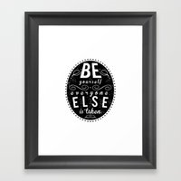 Inspire Yo Self  Framed Art Print