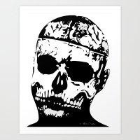 Rick Genest (Zombie Boy) Art Print