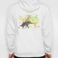 Stegosaurus Dinosaur in Splash of Color Hoody