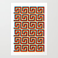 Pixel Wave Art Print