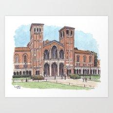 Royce Hall UCLA Art Print