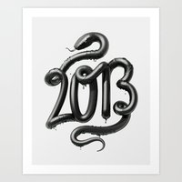 2013 - Year of the Black Water Snake Art Print