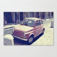 Fiat 500 - Italia Car Canvas Print