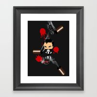 Chibi Punisher Framed Art Print