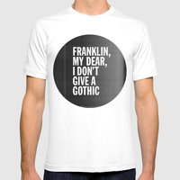 Franklin, my dear, I don't give a gothic Mens Fitted Tee White SMALL
