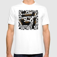 GARDEN DOGS SMALL White Mens Fitted Tee