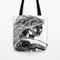 B&W Fashion Illustration… Tote Bag