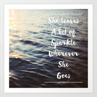 Wherever She Goes Art Print