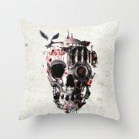 Istanbul Skull Throw Pillow