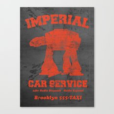 Imperial Car Service (Safety Orange) Canvas Print