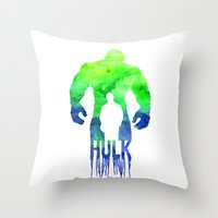 The Hulk  Throw Pillow