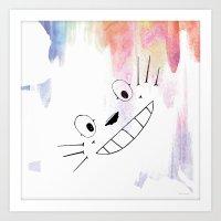 Totoro Love Art Print