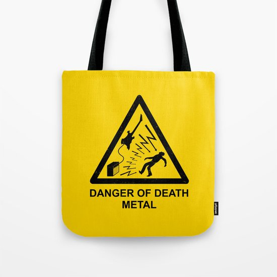 Danger Of Death Metal Tote Bag