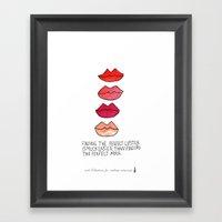 Lipstick >Men Framed Art Print